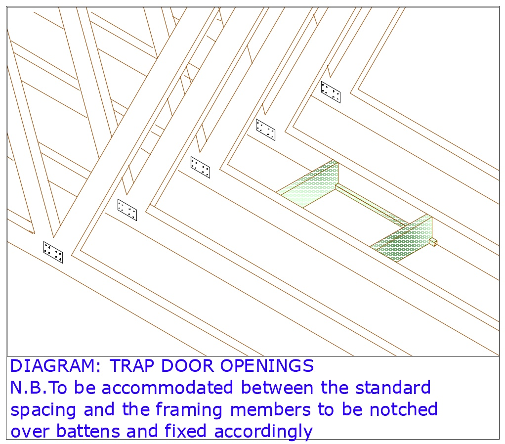 DIAGRAM D25 Trap Door Openings