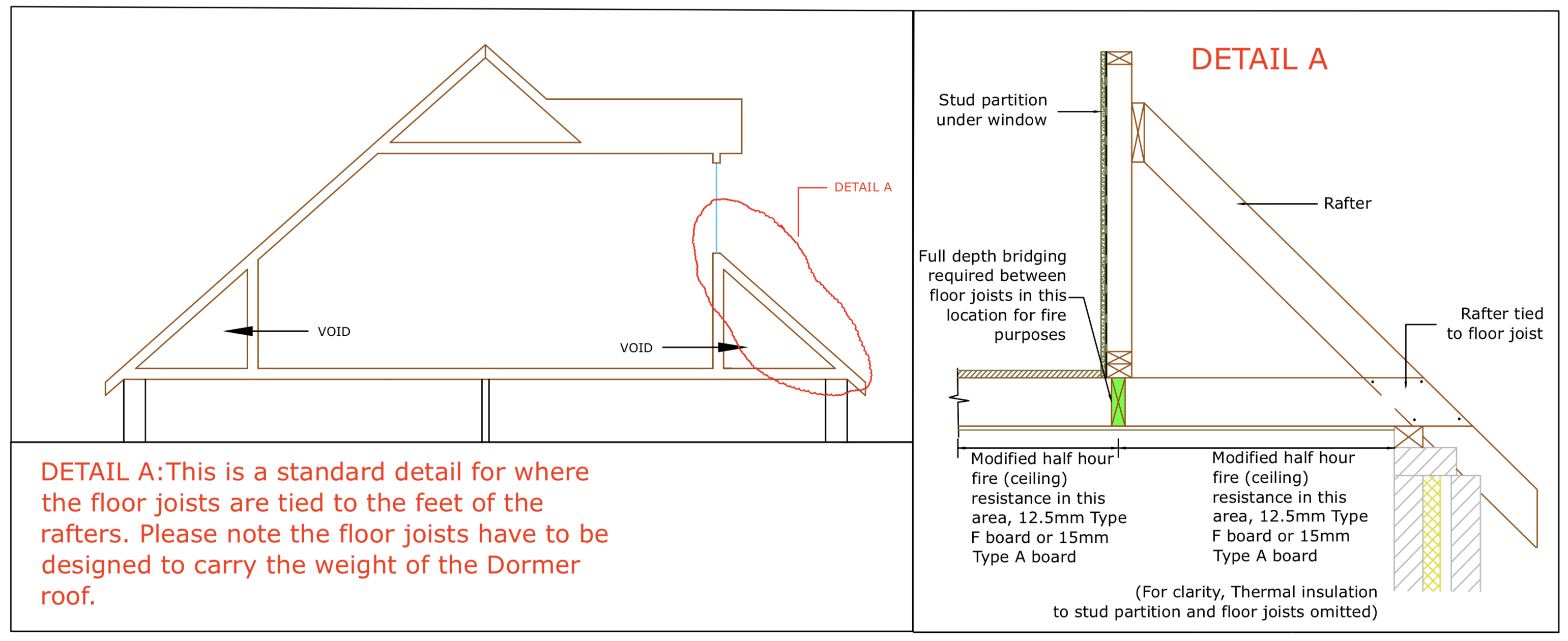 Diagram D55 - Below dormer window roof detail